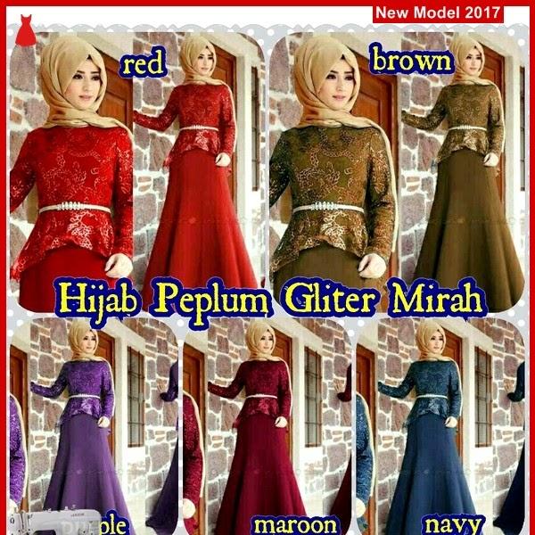MSF0088 Model Hijab Peplum Murah Gliter Mirah BMG