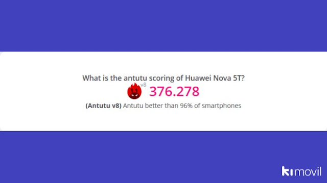 Huawei Nova 5T antutu