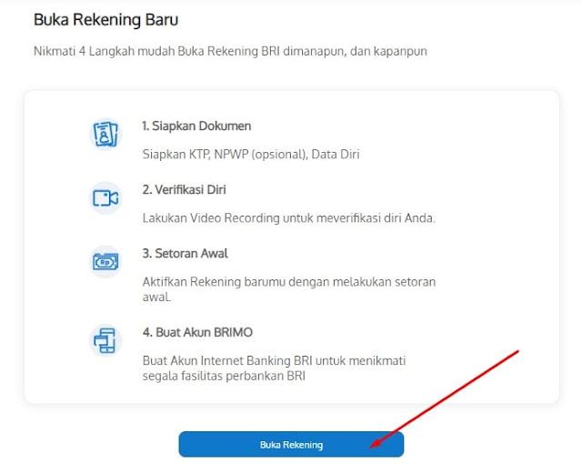 Langkah 2 Buka Rekening BRI Simpedes Online