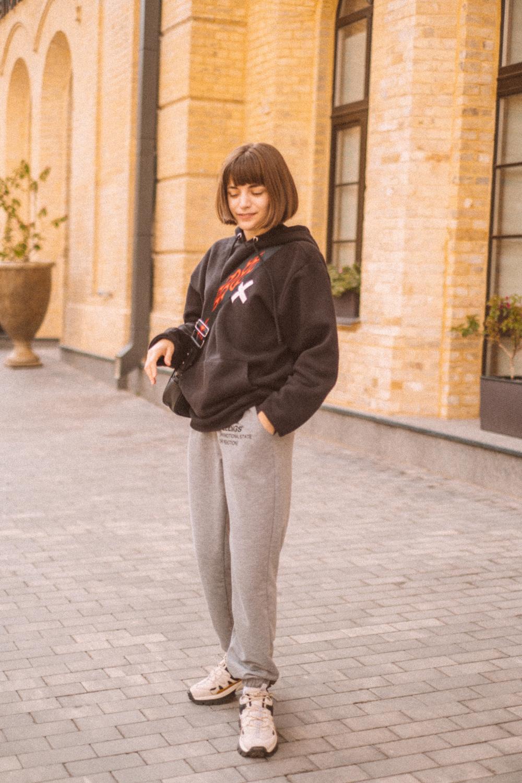 COLLUSION hoodie, JustFashionNow sweatpants, Bershka bag, Stradivarius sneakers