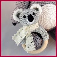 Mordedor koala a crochet