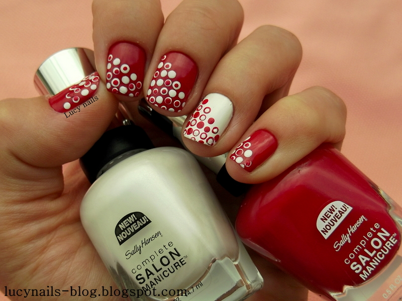 Sally Hansen Complete Salon Manicure nr  565 Aria Red-y? i 171 Bleach Babe