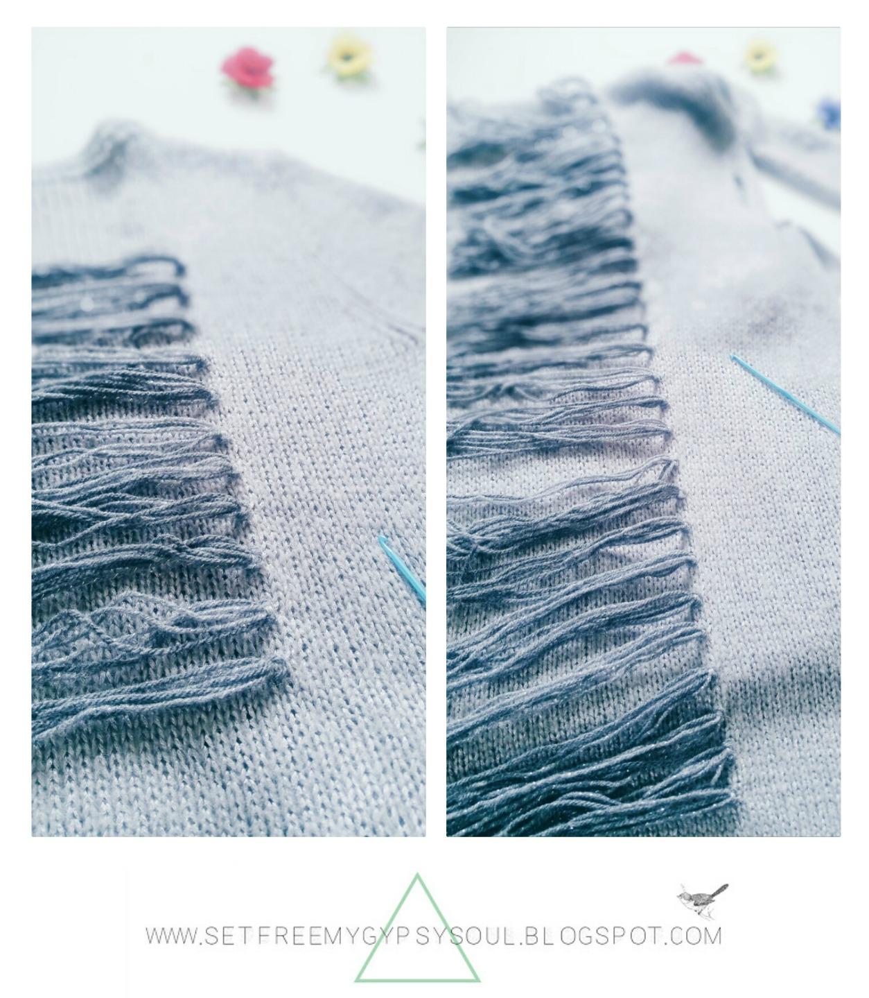 easy clothing refashion upycle sweater cardigan maxi boho