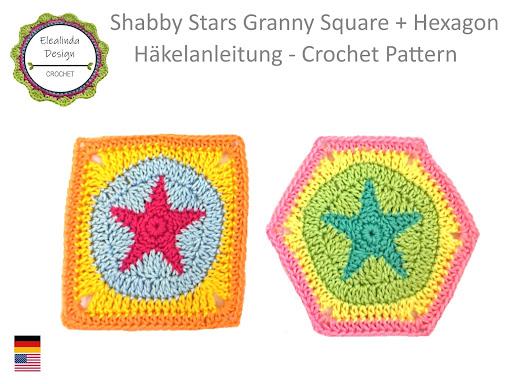 Ebook Shabby Stars Granny Square + Hexagon