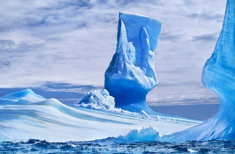Awesome Glacier Icebergs in Antarctica Moving, Colliding, Falling, Floating, Melting Ice!