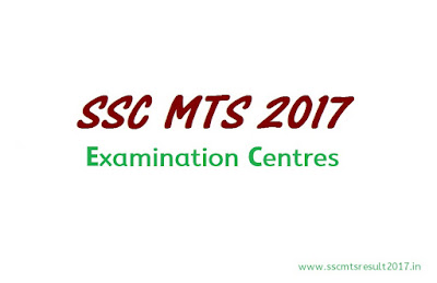 SSC MTS Exam Centers
