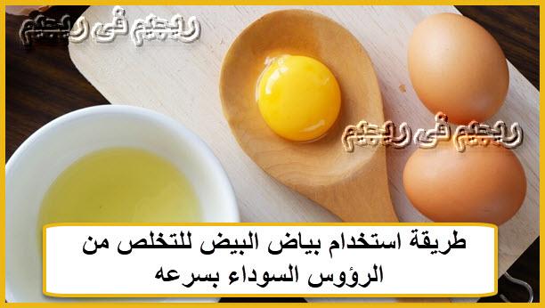 طريقة استخدام بياض البيض للتخلص من الرؤوس السوداء بسرعه