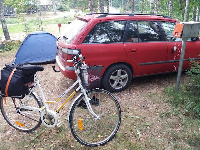 Pyörällä halki Suomen 12. päivä: Mutkien kautta Jyväskylään