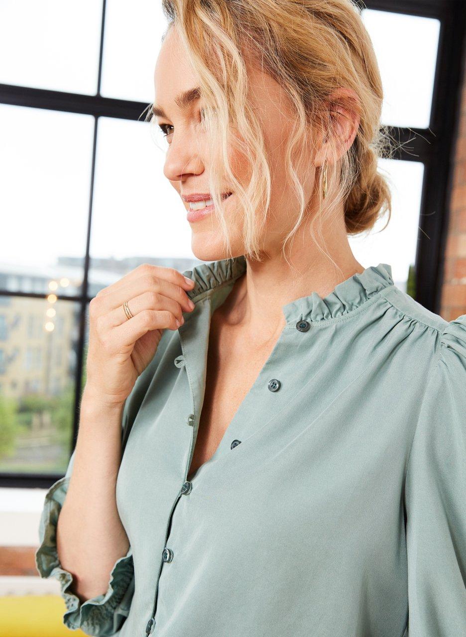 my midlife fashion, Baukjen melie tencel blouse