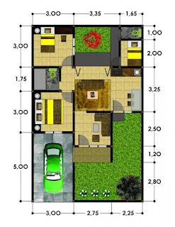 contoh tipe rumah 54