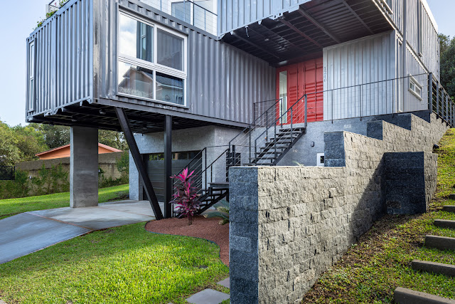 Casa Conteiner RD - 350 sqm Two Story Shipping Container Home, Brazil 30
