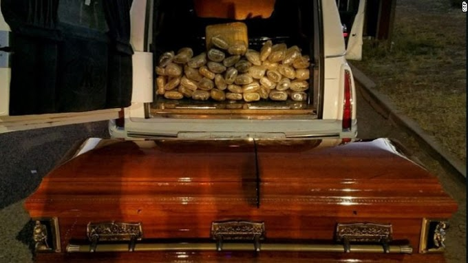 Man tries to smuggle 67 pounds of pot into the US in a coffin. But points for originality
