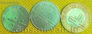 Set rupee 1, 2 and 10 cross diversity commemorative coins of India for sale in New Delhi