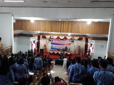 Puluhan Pejabat dan CASN yang di lantik Bupati Sri Wahyuni Maria Manalip.