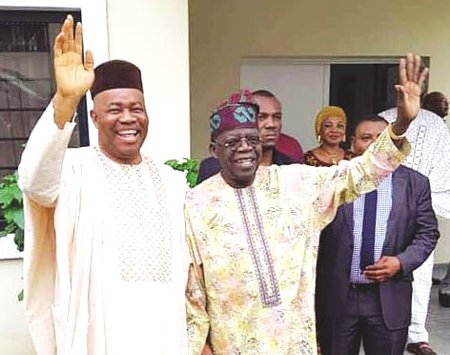 Akpabio Meets Tinubu At Home, Finalises Defection To APC