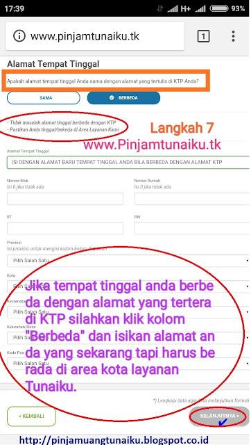 G.Gambar langkah 7 pengajuan pinjaman uang tanpa jaminan via link web promo tunaiku www.Pinjamtunaiku.tk