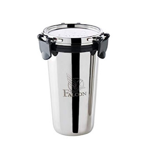 Falcon Eco Nxt Steel Tumbler Black- 300 ml