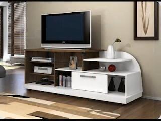 10 Inspirasi Untuk Rak TV di Ruangan Sempit Rumah Moderen Minimalis