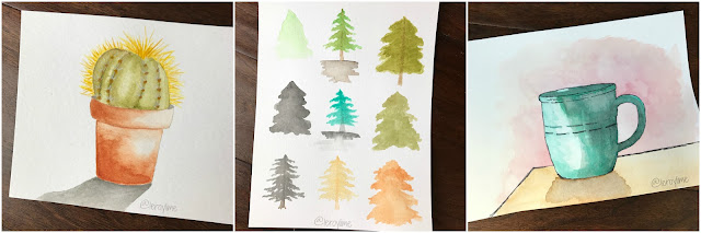 http://watercolour-workshop.com/ - online watercolour class via Dana Fox - Wonder Forest