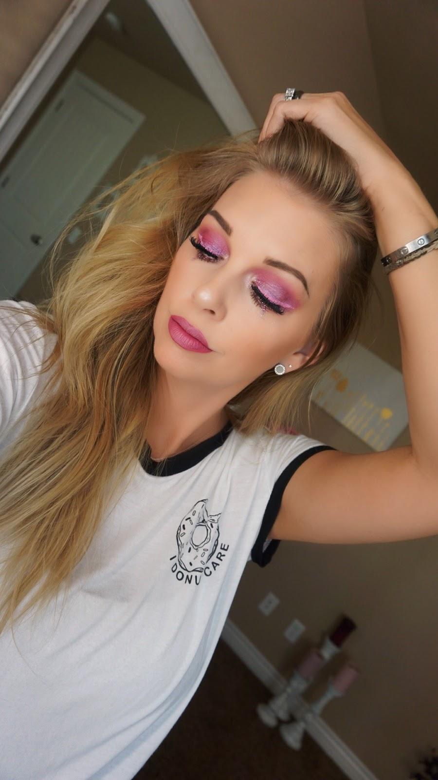 Bubblegum Pink Glitter Tears justmelsdotcom Orglamix