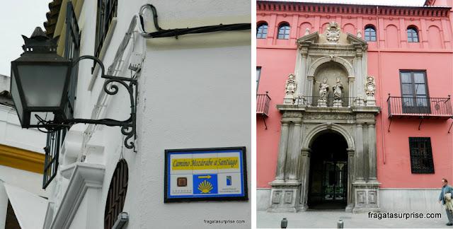 Marco do Caminho Moçárabe a Santiago de Compostela, em Córdoba, e uma fachada barroca no Centro de Granada