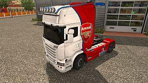 FC Arsenal skin for Scania Streamline