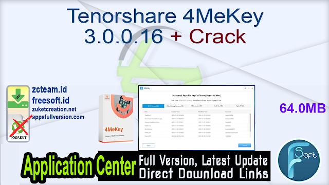 Tenorshare 4MeKey 3.0.0.16 + Crack_ ZcTeam.id