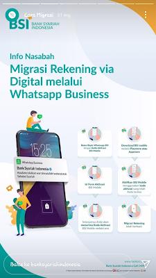 Migrasi rekening ke BSI via Whatsapp