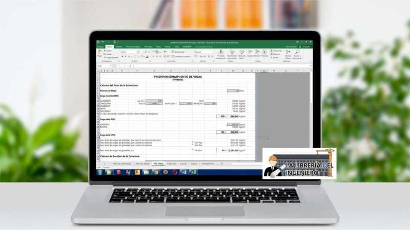 Plantilla Predimensionamiento de Vigas y Columnas - Excel