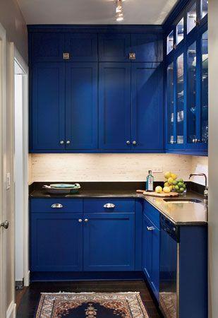 cozinhas com decoração predominante azul - blue kitchen