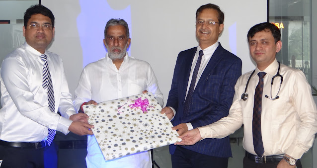 केंद्रीय राज्यमंत्री कृष्णपाल गुर्जर ने किया डा. एस.एस. बंसल व उनकी टीम को सम्मानित