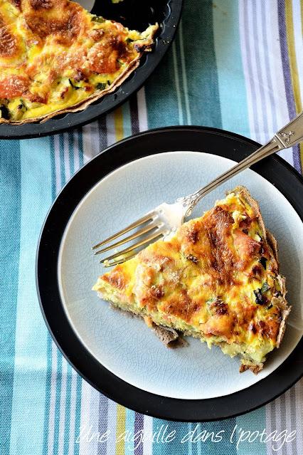 quiche-courgette-truite-parmesan