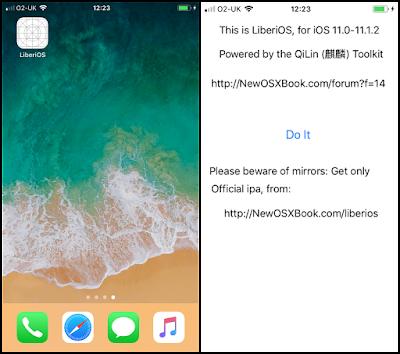 iOS 11.1.2 and below LiberiOS Jailbreak released