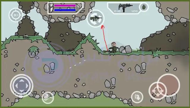 جمع السلاح لعبة Mini Militia