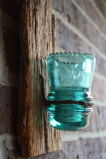 glass insulators crafts dishfunctional designs creative ways to upcycle vintage 2092