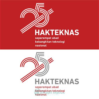 Logo Hakteknas ke-25 Vector