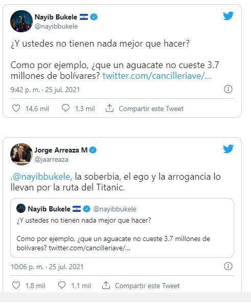 Presidente de El Salvador Nayib Bukele se burló del Régimen de Maduro en sus redes