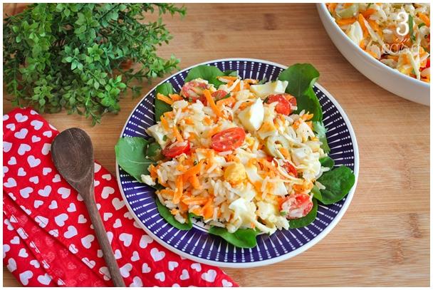 salada de arroz receita