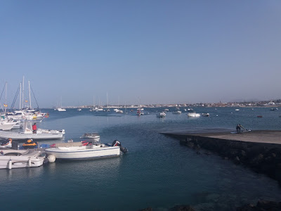 Photo of the view from the harbour in Corralejo