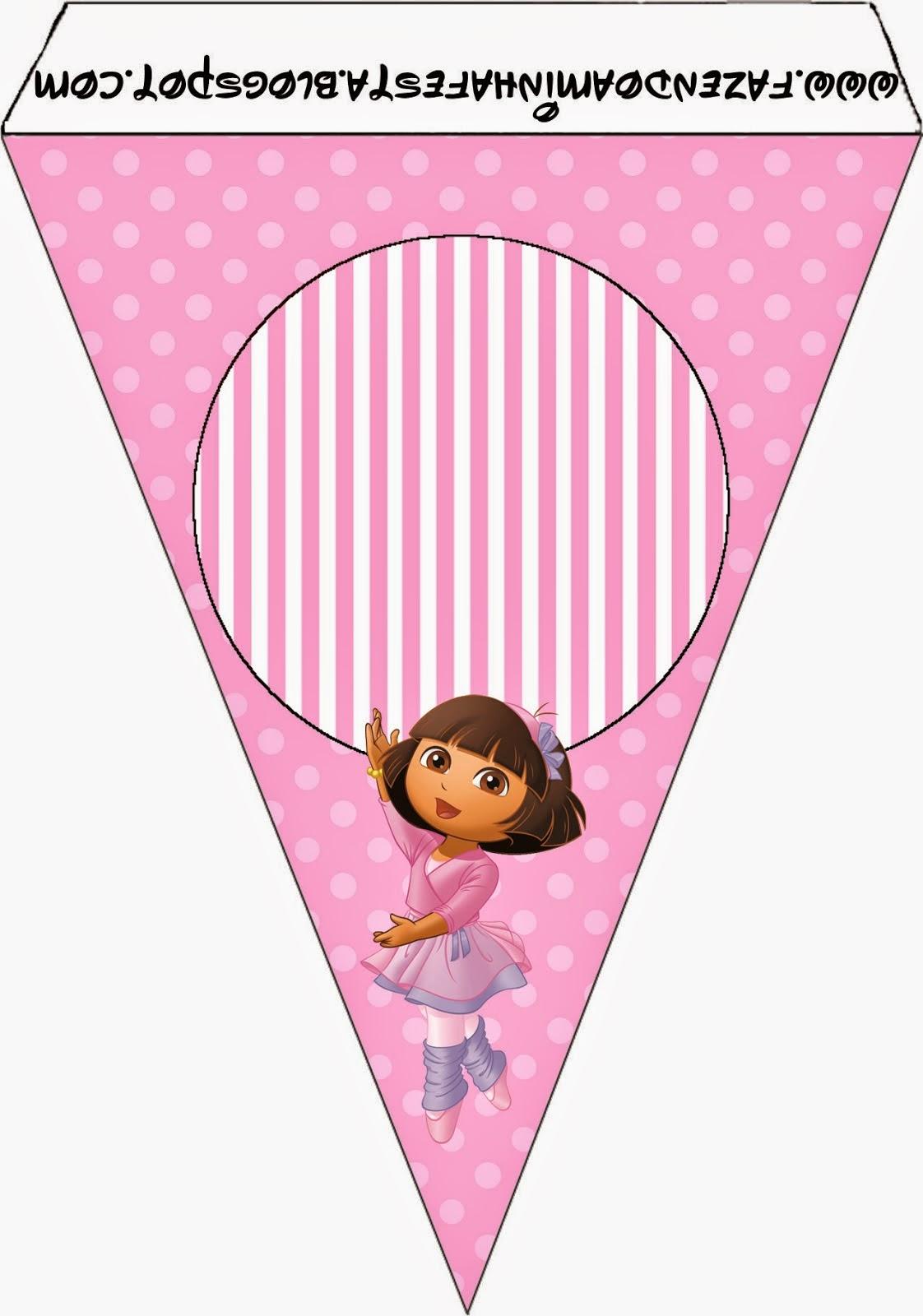 Dora Dancing Ballet: Free Party Printable. - Oh My Fiesta ...