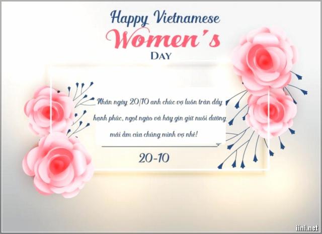 Thiệp chúc Vợ ý nghĩa nhân ngày 20-10