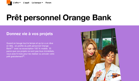 Prêt personnel Orange Bank