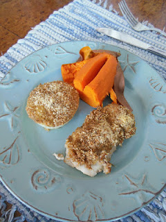 Chicken and Onions baked with Rosemary Toasted Crumbs and Parmesan Cheese, a delicious recipe using your own homemade bread crumbs.
