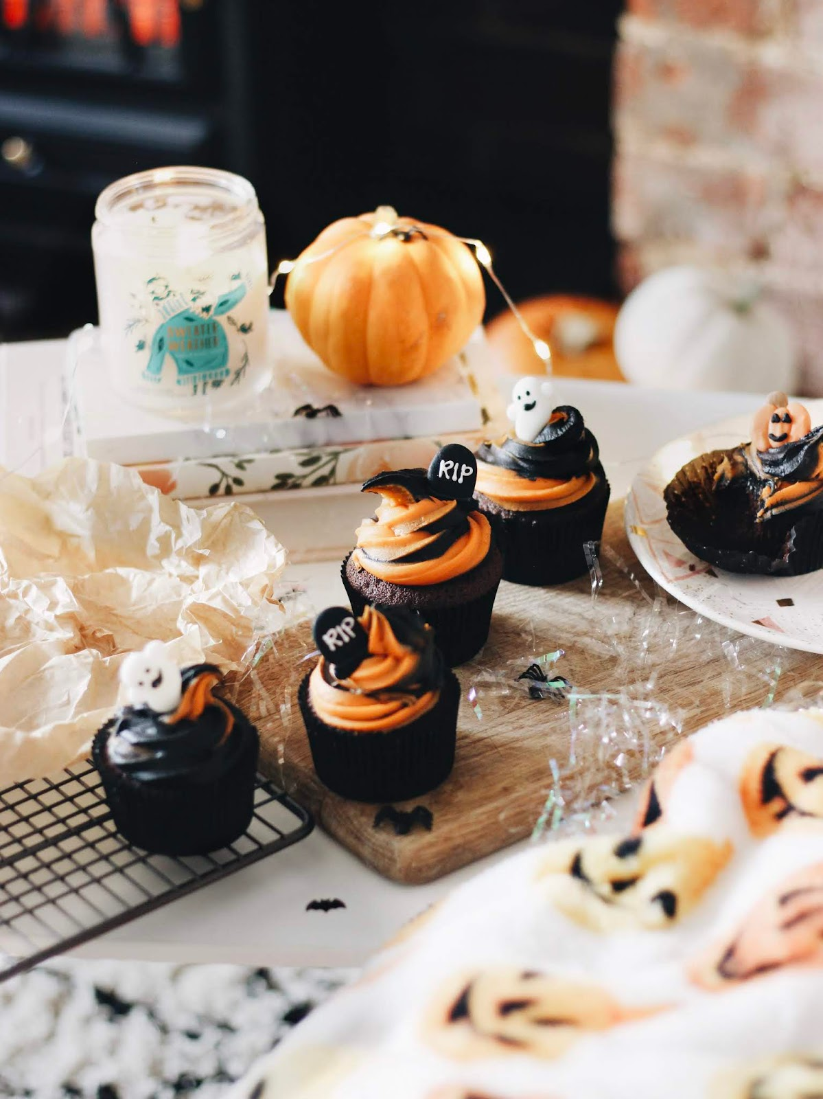 Halloween Chocolate Orange Cupcake Recipe