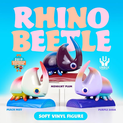 Designer Con 2019 Exclusive Rhino Beetle Vinyl Figure by The Beast Is Back x Unbox Industries