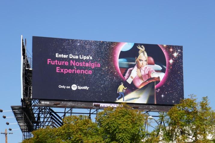 Dua Lipa future nostalgia Spotify billboard