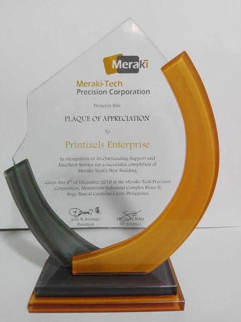 Plaque of Appreciation - Printixels Enterprise
