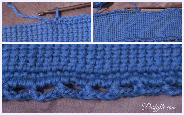 Tunisian Crochet project joining options