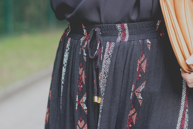 outfit long hippie boho skirt