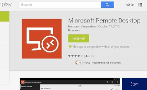 Microsoft Remote Desktop 8.1 for Android